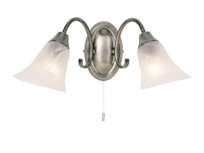 Kinkiet Hardwick - Endon Lighting - dwa szklane klosze