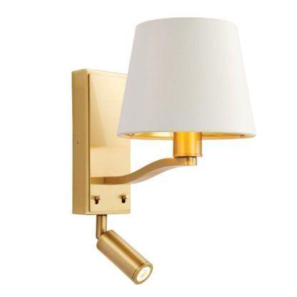 Kinkiet Harvey - Endon Lighting - 2 żarówki i wyłączniki - złoty