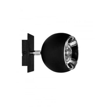 czarna lampa ścienna w stylu nowoczesnym z kulistym kloszem