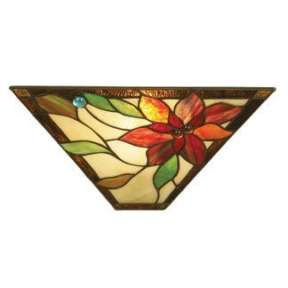 Kinkiet Lelani - Interiors - szklany, witrażowy wzór