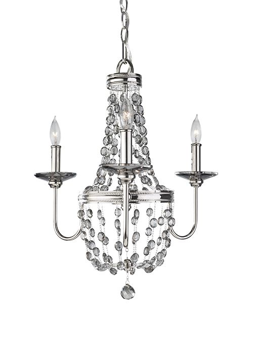 Żyrandol Luxembourg - Ardant Decor - kryształy - trzy żarówki