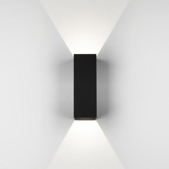 prostokątny kinkiet w nowoczesnym stylu, czarna bryła