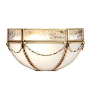 Kinkiet Russell - Interiors - mleczne szkło, mosiądz