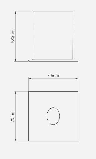 minimalistyczny kinkiet do zabudowy w ścianie