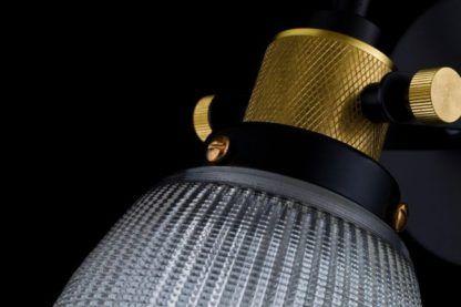 lampa ścienna z srebrnej siatki z mosiądzem