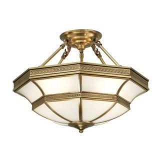 Klasyczna lampa sufitowa Balfour - Interiors - mosiądz