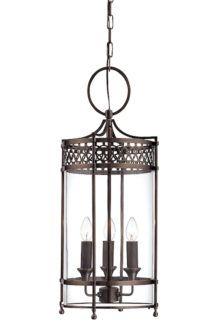 Klasyczna lampa wisząca Lantern ciemny brąz