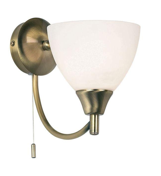 Klasyczny kinkiet Alton - Endon Lighting - szklany, złoty