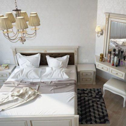 klasyczny kinkiet z abażurem materiałowym do sypialni