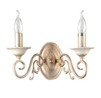 Klasyczny kinkiet Perla- Maytoni - kremowy, złoty