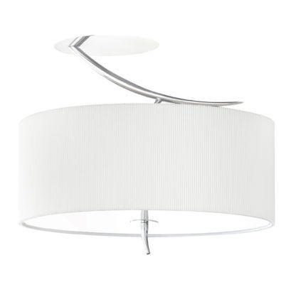 Klasyczny plafon Eve - Mantra - biały, materiałowy