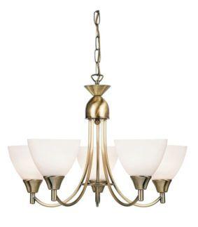 Klasyczny żyrandol Alton - Endon Lighting - szklany, złoty