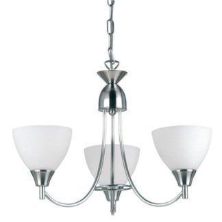 Klasyczny żyrandol Alton - Endon Lighting - 3 żarówki - chrom, szkło
