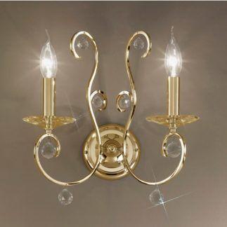 Kinkiet CARAT Crystal - Kolarz - kryształ, powlekany 24K złotem