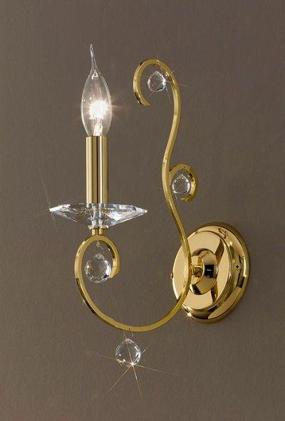 Kinkiet CARAT - Kolarz - kryształ, powlekany 24K złotem