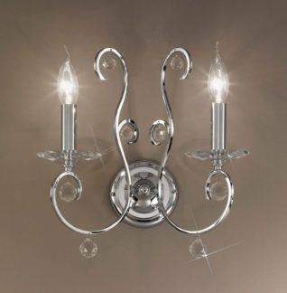 Kinkiet CARAT Crystal - Kolarz - kryształ, chrom