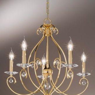 Żyrandol CARAT Crystal - złoty, kryształ PURE - Kolarz