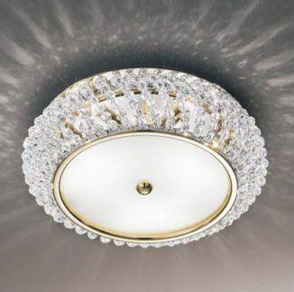 Lampa sufitowa - CARLA Pure Crystal - Kolarz - złota - kryształowa