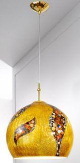 Lampa wisząca - LUNA KISS L - Kolarz - powlekana 24 karatowym złotem
