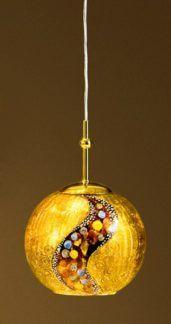 Lampa wisząca - LUNA KISS S - Kolarz - powlekana 24 karatowym złotem