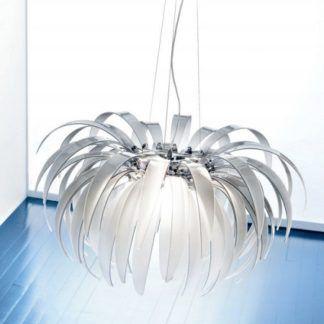 Lampa wisząca - PALMANOVA - Kolarz - biała - szklana