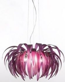 Lampa wisząca - PALMANOVA - Kolarz - fioletowa - szklana