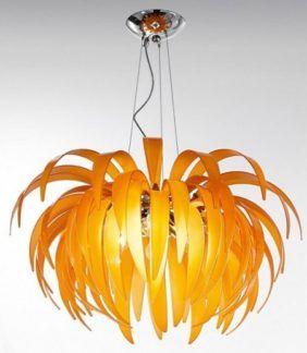 Lampa wisząca - PALMANOVA - Kolarz - pomarańczowa - szklana