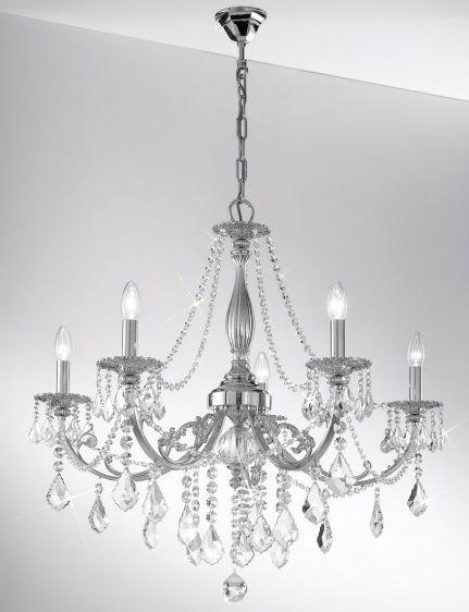 klasyczna lampa srebrna
