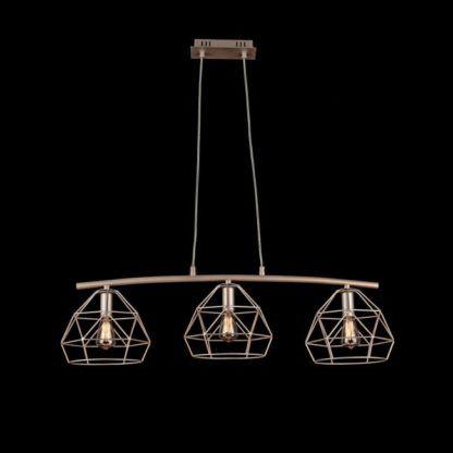 Potrójna lampa wisząca Soprano - Maytoni - złoto, mat