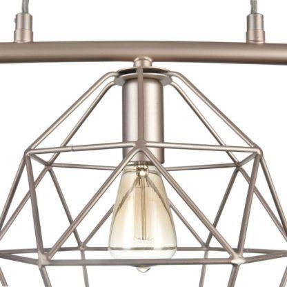 kremowa lampa wisząca z drutu z żarówką edissona