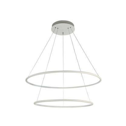 Podwójna lampa wisząca Nola LED - Maytoni - duża - biała