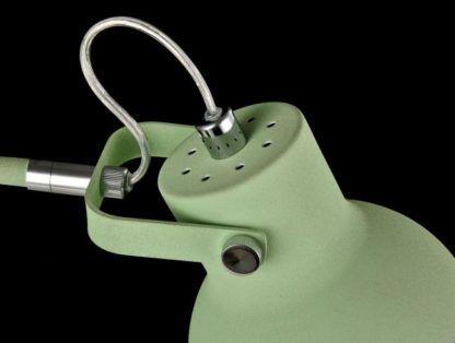 lampa do nauki lub pracy w wiosennym zielonym kolorze