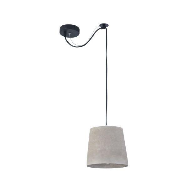 lampa wisząca betonowa stożek