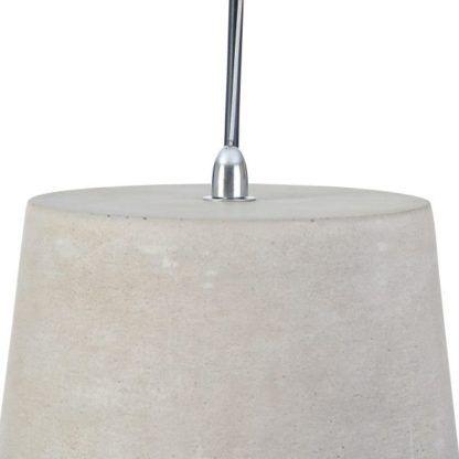 betonowa lampa stożek wiszący