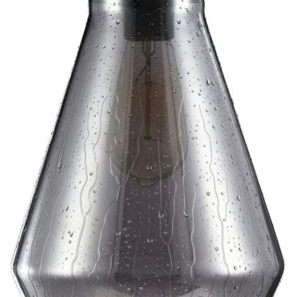 szara szklana wisząca lampa z kroplami wody