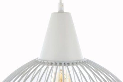 lampa wisząca druciana biała z żarówką