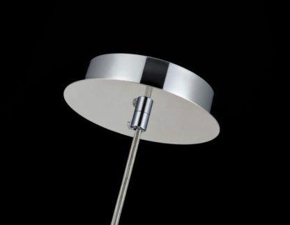 chromowany zawieszenie lampy z kulami srebrnymi szklanymi