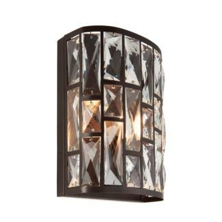 Kryształkowy kinkiet Belle - Endon Lighting - brązowy, szklany