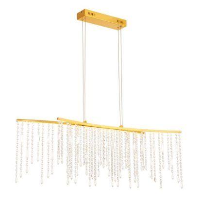 Kryształowa lampa wisząca Amelia - Endon Lighting - złota