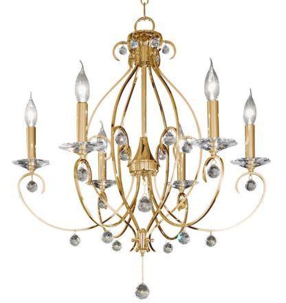 Kryształowy żyrandol CARAT Crystal - Kolarz - złoty, kryształ PURE