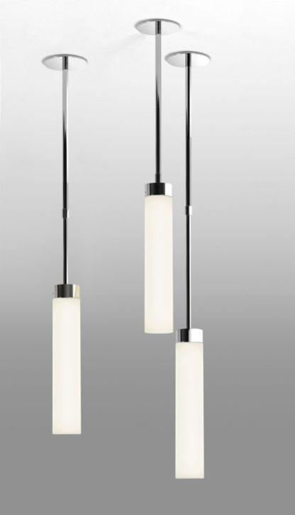 lampa wisząca podłużna z mlecznego szkła