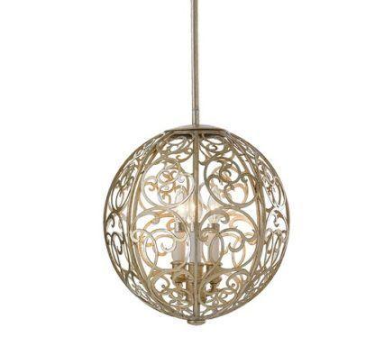 Dekoracyjna lampa wisząca Motif - ażurowa kula