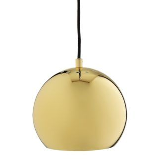 Lampa Ball 18cm - połysk mosiądz - Frandsen Lighting