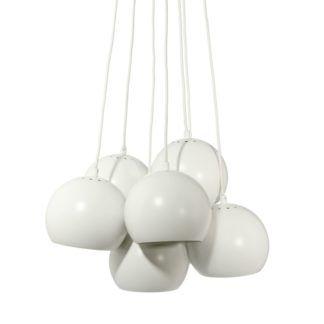 Lampa wisząca Ball Multi - Frandsen Lighting - matowa biała