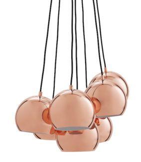Lampa wisząca Ball Multi - Frandsen Lighting - miedziana