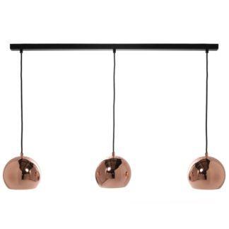 Szynowa lampa wisząca miedziana Ball Track - Frandsen Lighting