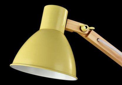 Lampa biurkowa Apex - Maytoni - metal, drewno, zielona
