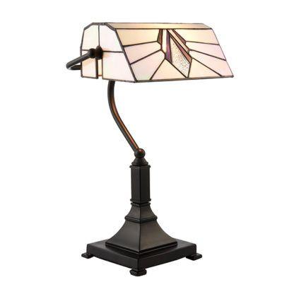 Lampa biurkowa Astoria - Interiors - mozaikowy klosz