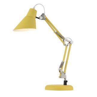 Lampa biurkowa Zeppo 136 - Maytoni - metal, żółta