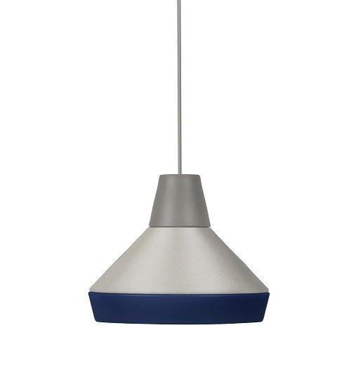 nowoczesna lampa wisząca szaro-niebieska - aranżacja scandi